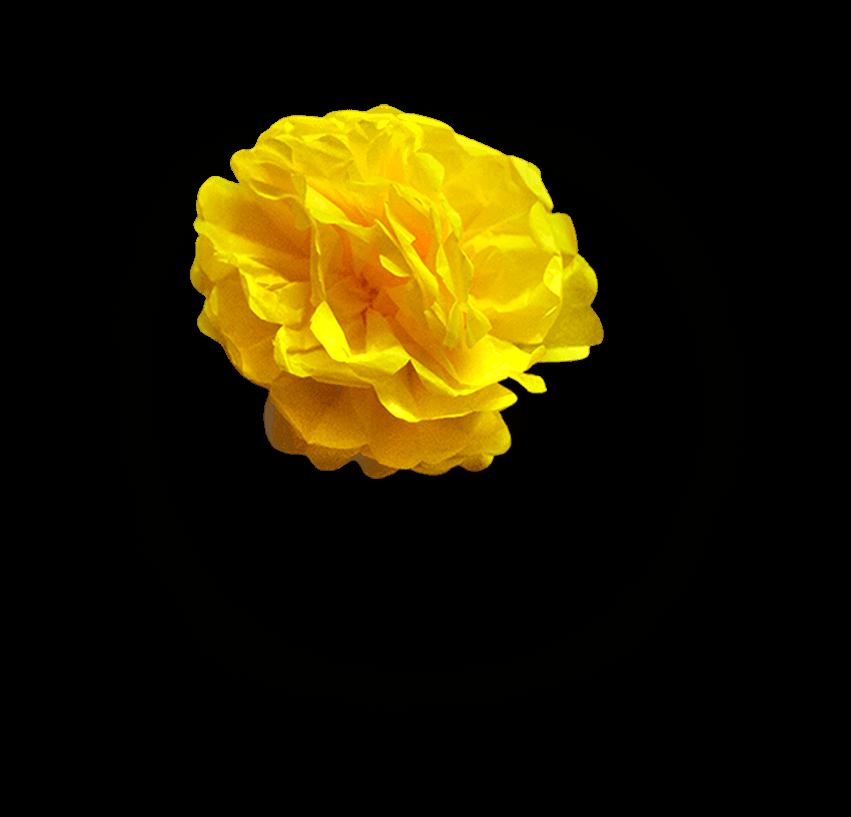 Flor de Papel Amarilla